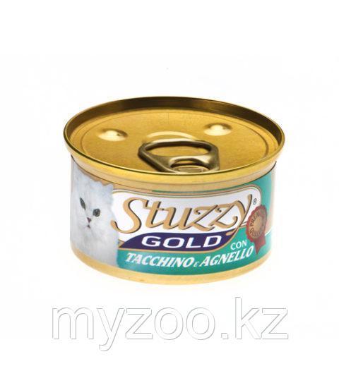 STUZZY GOLD  влажный корм для кошек  Мусс Индейка и Ягненок 85гр