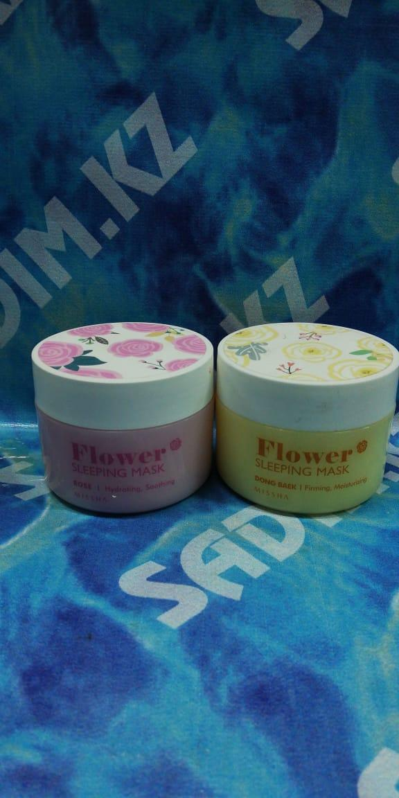 Missha Flower Sleeping Mask Rose - Ночная цветочная маска для лица