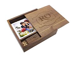 Подарочный набор для фотографий из дерева с usb накопителем