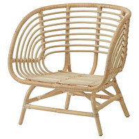 Кресло БУСКБУ ротанг ИКЕА, IKEA, фото 1