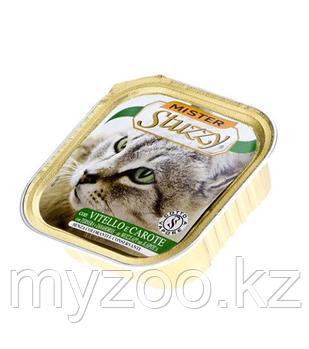 MISTER STUZZY CAT Паштет с настоящими кусочками мяса, с Телятиной и Морковью 100гр