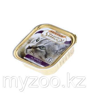MISTER STUZZY CAT Паштет с настоящими кусочками мяса, с Тунцом 100гр
