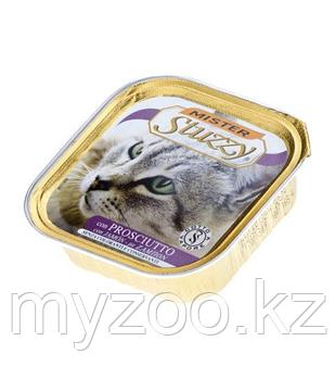 MISTER STUZZY CAT Паштет с настоящими кусочками мяса, с Ветчиной 100гр