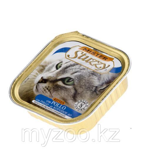 MISTER STUZZY CAT  Паштет с настоящими кусочками мяса для котят с Курицей 100гр