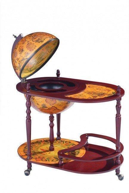 Напольный глобус-бар со столом JUFENG, d=42 см