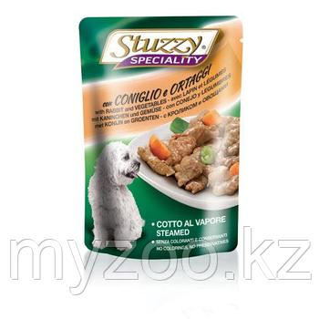 STUZZY SPECIALITY DOG влажный корм для собак  Кролик и овощи в соусе 100гр