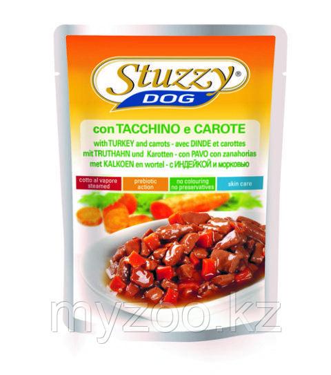 STUZZY DOG влажный корм для собак Индейкой и Морковью в соусе 100 гр