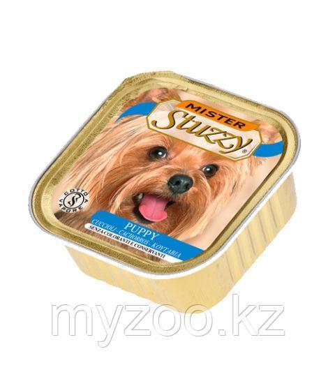 STUZZY MISTER DOG влажный корм для щенков Паштет с настоящими кусочками мяса для щенков с Курицей 100 гр