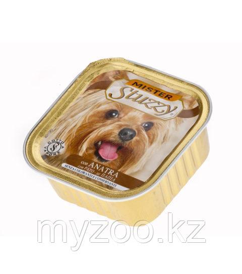 STUZZY MISTER DOG влажный корм для собак Паштет с настоящими кусочками мяса с Уткой  100 гр