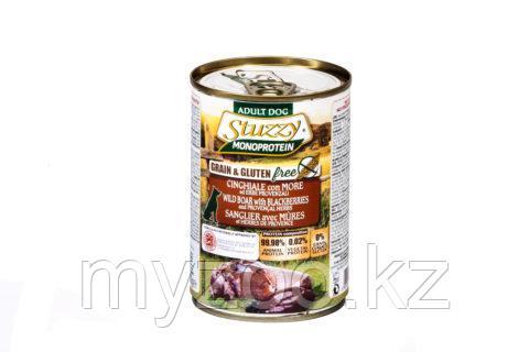 STUZZY MONOPROTEIN  влажный корм для собак  Кабан с ежевикой  400 гр