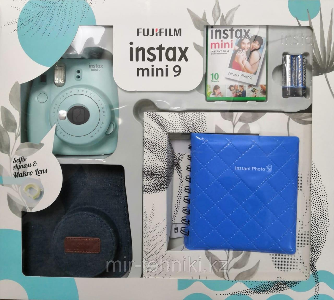 Подарочный набор Fujifilm Instax mini 9 Ice Blue (Ограниченная версия)