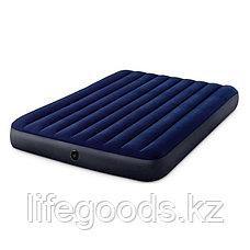 Надувной матрас двуспальный с подушками и насосом 152х203х25 см Intex 64765, фото 3