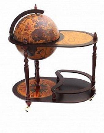 Глобус-бар напольный со столиком d=40 см, арт. 31359