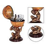 Напольный глобус-бар Атлант JUFENG, d=42 см, фото 3