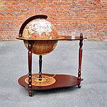 Глобус-бар MICHELANGELO напольный со столиком, d=40 см, фото 2