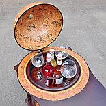 Глобус-бар MICHELANGELO напольный со столиком, d=40 см, фото 3