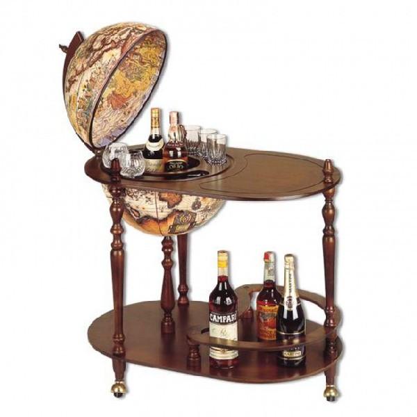 Глобус-бар напольный со столиком d=42 см