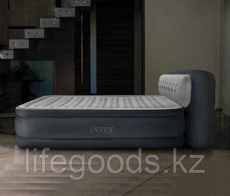 Двуспальная надувная кровать со спинкой и насосом, Intex 64448, фото 2