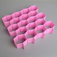 Органайзер-разделитель для ящиков, 8 перегородок, 34,3×6,6 см, цвет МИКС