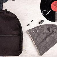 Набор подарочный BOYROCK: шапка, наушники, рюкзак, черно-серый, Черный, -, 39403 35 30