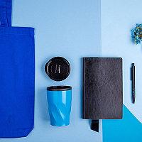 Набор подарочный VIBES4HIM: бизнес-блокнот, ручка, термокружка, сумка, Черный, -, 35012 35 22