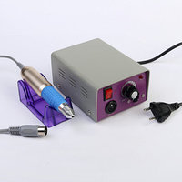 Аппарат для маникюра LuazON LMH-03, 6 насадок, до 25000 об/мин, педаль, 12 Вт, серый