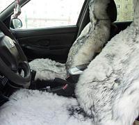 Чехол-накидка для автомобильного кресла меховой (Белый)