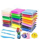 Глина полимерная детская в наборе. 24 пакетиков, инструмент., фото 2