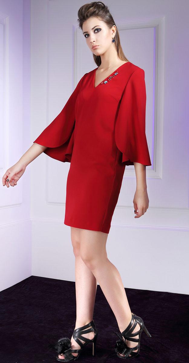 Платье Nova Line-5575, красный, 48