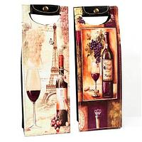 Пакет-футляр подарочный из кожи для вина