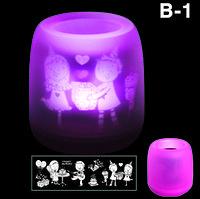 Электронная светодиодная свеча «Задуй меня» с датчиками дистанционного включения (B1 С днем рождения)