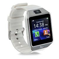 Умные часы [Smart Watch] с SIM-картой и камерой DZ09 (Серебряный с белым)