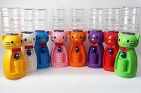 Кулер для воды детский в виде кошки «Родничок» (Зеленый)