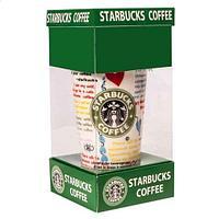 Кружка-латте керамическая с силиконовой крышкой (Starbucks coffee)