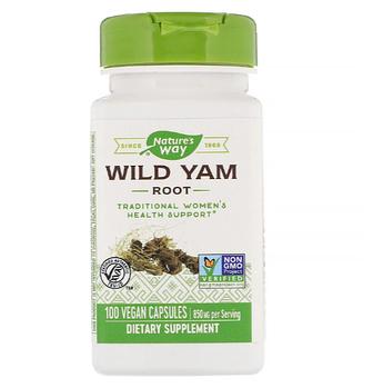 Nature's Way, Корень дикого ямса, 850 мг, 100 веганских капсул