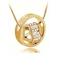 Кулон Сердце в кольце в романтическом стиле