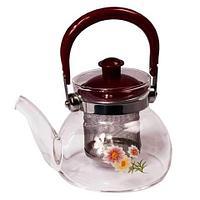 Чайник заварочный стеклянный с фильтром Tea and coffee Pot (1100 мл)