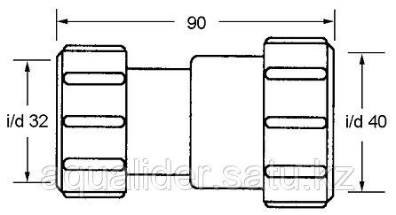 3240H-WH Муфта 32х40мм (г/г) McAlpine, фото 2