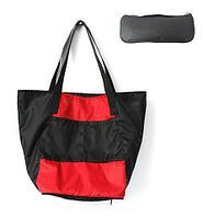 Сумка складная Magic Bag [25 л] с кармашками и чехлом (Красно-черная)