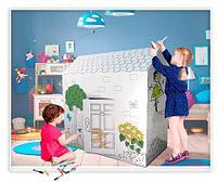 Домик-раскраска картонный с карандашами
