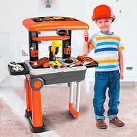 Игровой набор инструментов с чемоданом-верстаком 2 в 1 Deluxe Tool Set NO.008-922