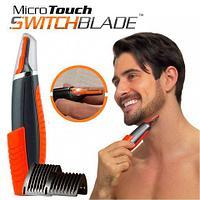 Триммер для лица и тела Micro Touch Switchblade 2 в 1 с комплектом насадок