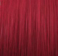 Штора веревочная «Кисея» декоративная {50х200} (Бордовый)
