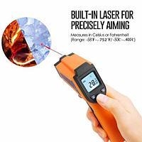 Термометр-пистолет инфракрасный универсальный с лазерной подсветкой LASEGRIP GM400