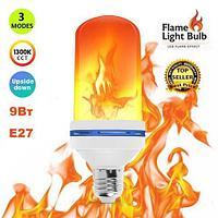 Лампа LED Flame Effect с имитацией пламени огня [9, 15 W] (Е27 / 9W)