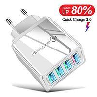 Адаптер быстрой зарядки 4хUSB + QC 3.0 для электрической розетки AR830 (Белый)