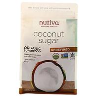 Nutiva, Органический кокосовый сахар, 454 г (1 фунт)
