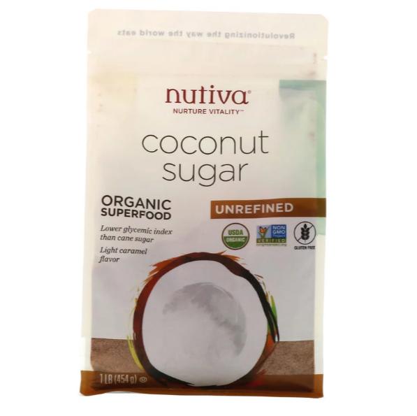 Nutiva, Органический кокосовый сахар, 454 г (1 фунт) - фото 1