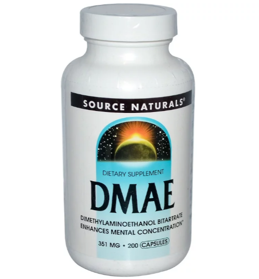 Source Naturals, DMAE, 351 мг, 200 капсул