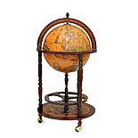 Глобус-бар напольный карта на английском языке, d=40 см, фото 3